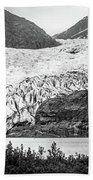 Panoramic View Of Mendenhall Glacier Juneau Alaska Beach Towel