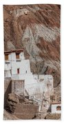 Ruins At Basgo Monastery Beach Towel