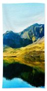 Oil Painting Landscape Pictures Beach Towel