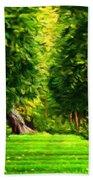Nature Oil Canvas Landscape Beach Towel