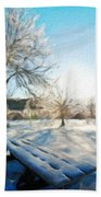 Nature Oil Painting Landscape Images Beach Towel