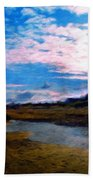 Nature Landscape Oil Painting On Canvas Beach Towel