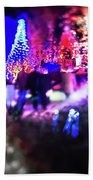 Christmas Light Bokeh At Daniel Stowe Gardens Belmont North Caro Beach Towel