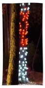 Christmas Season Decorations And Lights At Gardens Beach Towel