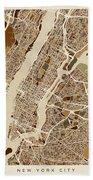 New York City Street Map Beach Sheet