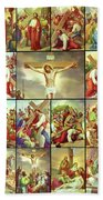 14 Stations Of The Cross Beach Towel
