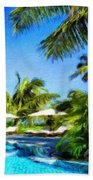 Nature Landscape Oil Painting For Sale Beach Towel