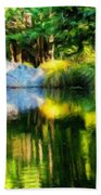 Nature Landscape Oil Painting On Canvas Beach Towel