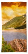 Nature Scenery Oil Paintings On Canvas Beach Towel