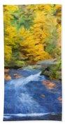 Nature Painted Landscape Beach Towel