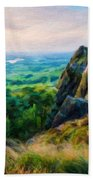 Nature Landscape Oil Beach Towel