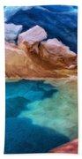 Oil Painting Landscape Pictures Nature Beach Towel