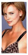 1491 Celebrity Charlize Theron  Beach Towel