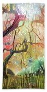 15 Abstract Japanese Maple Tree Beach Sheet