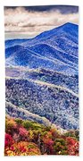 Autumn Season On Blue Ridge Parkway Beach Towel