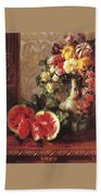 bs- George Henry Hall- Still Life George Henry Hall Beach Towel