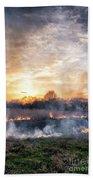 Fires Sunset Landscape Beach Towel