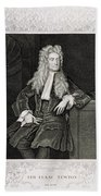 Isaac Newton, English Polymath Beach Towel by Science Source