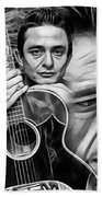 Johnny Cash Collection Beach Towel