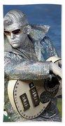 Silver Elvis Beach Towel