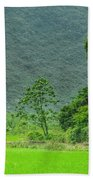 The Beautiful Karst Rural Scenery Beach Towel