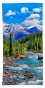 Nature Oil Painting Landscape Beach Towel