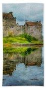 Painting Landscape Beach Towel