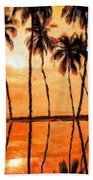 Landscape Paintings Nature Beach Towel