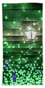 Christmas Light Bokeh At Daniel Stowe Gardens Belmont North Caro Beach Towel