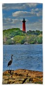 16- Jupiter Lighthouse Beach Towel