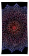 Kaleidoscope Image Created From Light Trails Beach Towel