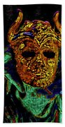 Mask. The Sons Of The Harpy. Fantasy. Beach Towel