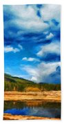 Landscape Painted Beach Towel