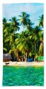 Nature Oil Painting Landscape Images Beach Towel