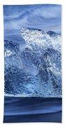 Ice On Beach Beach Towel