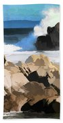 17 Mile Drive Pacific Ocean  Beach Towel
