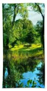 Landscape Painted Beach Towel