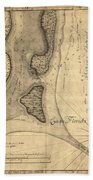 1765 Florida Coast Map Beach Towel