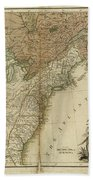 1783 United States Of America Map Beach Towel