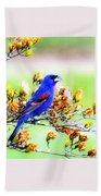 1795 - Blue Grosbeak Beach Towel