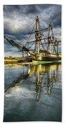 1797 Trading Ship Replica - Friendship Of Salem Beach Towel
