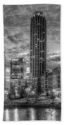 17th Street Dawn Atlantic Station Millennium Gate Art Beach Towel
