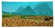 Beautiful Countryside Scenery In Autumn Beach Towel