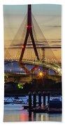 1812 Constutition Bridge From Rio San Pedro Puerto Real Spain Beach Towel