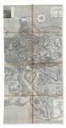 1866 Fornari Pocket Map Or Case Map Of Rome Italy Beach Towel