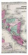 1866 Johnson Map Of Central America Beach Towel