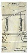 1875 Fire Extinguisher Patent Beach Towel