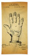 1878 Corn Husking Glove Patent Beach Towel
