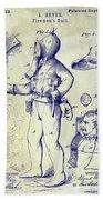 1880 Fireman Suite Patent Beach Sheet