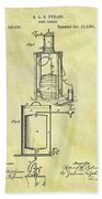 1881 Beer Cooler Patent Beach Towel
